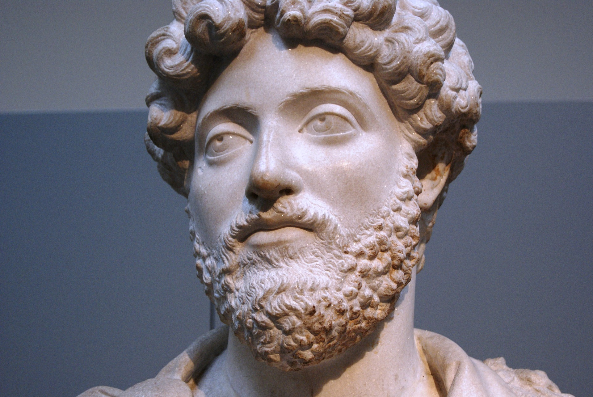 A statue of the Roman Emperor Marcus Aurelius
